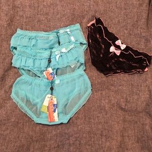 Other - Set of 3 teal underwear with bonus pair